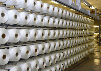raw yarn cones