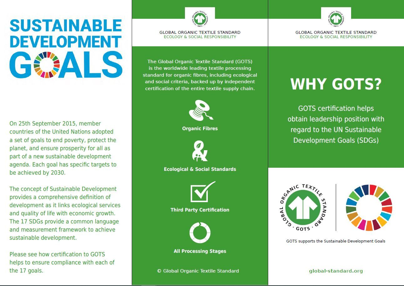 Image GOTS and the UN Sustainable Development Goals Flyer